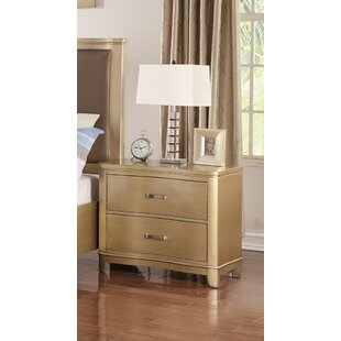 Ashcraft 2 Drawer Nightstand by House of Hampton Amazing