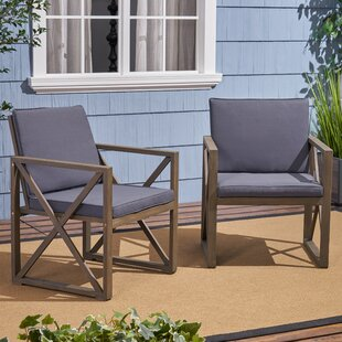 Anneke Patio Chair with Cushions (Set of 2)
