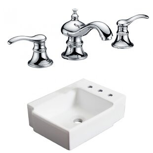Great deal Ceramic 16.25 Bathroom Sink with Faucet By Royal Purple Bath Kitchen