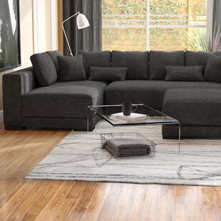 Douglas Left Hand Facing Sectional with Ottoman