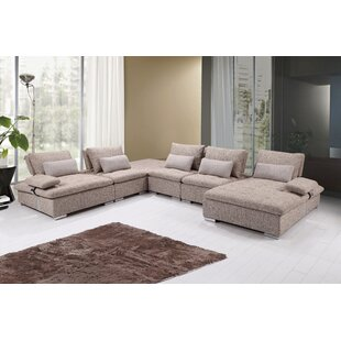 Uyen Reversible Sectional with Ottoman by Orren Ellis