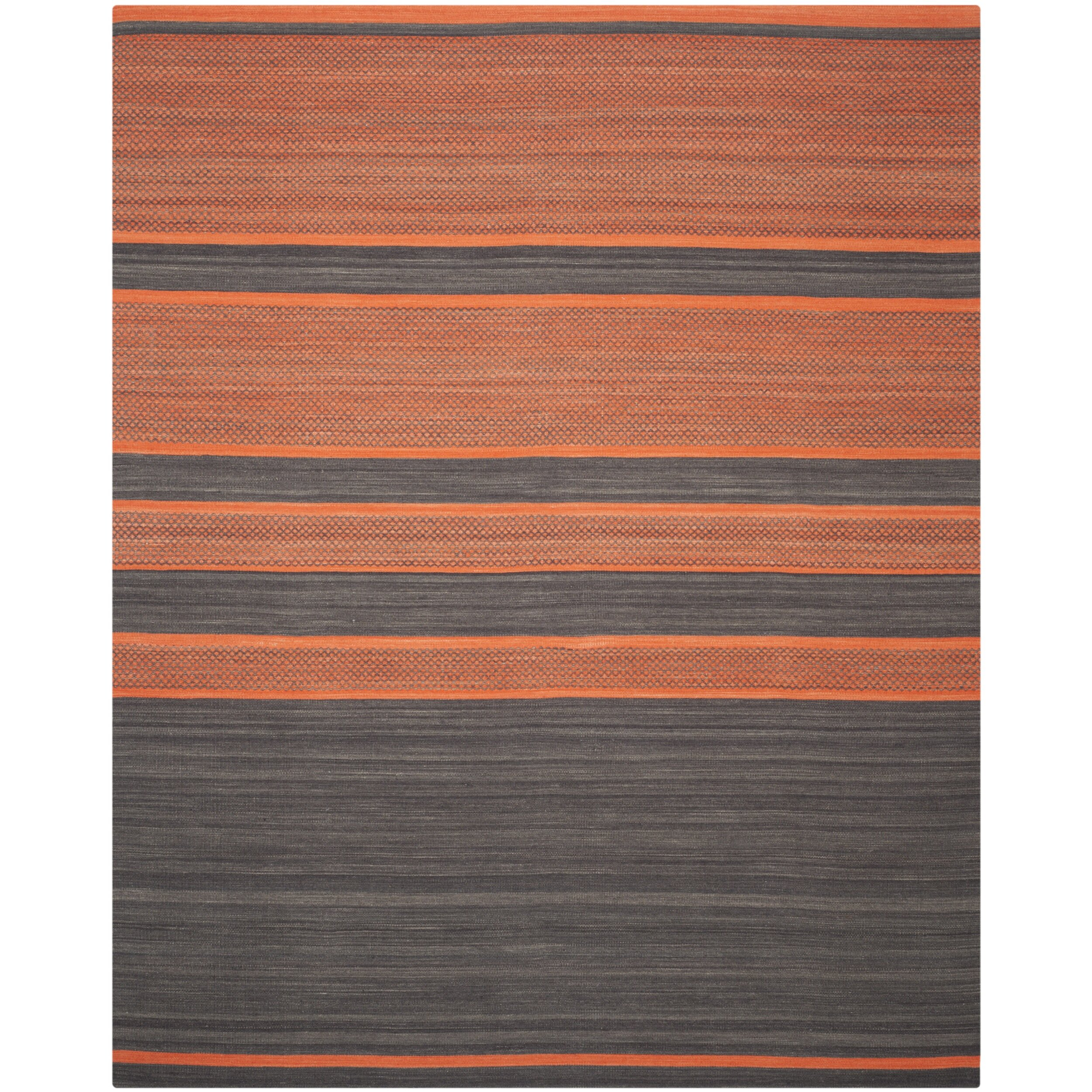 Safavieh Kilim Hand Woven Cotton Grey Orange Area Rug