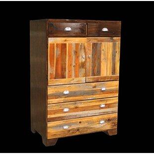 Urban Rustic Cowboy 5 Drawer Combo Dresser