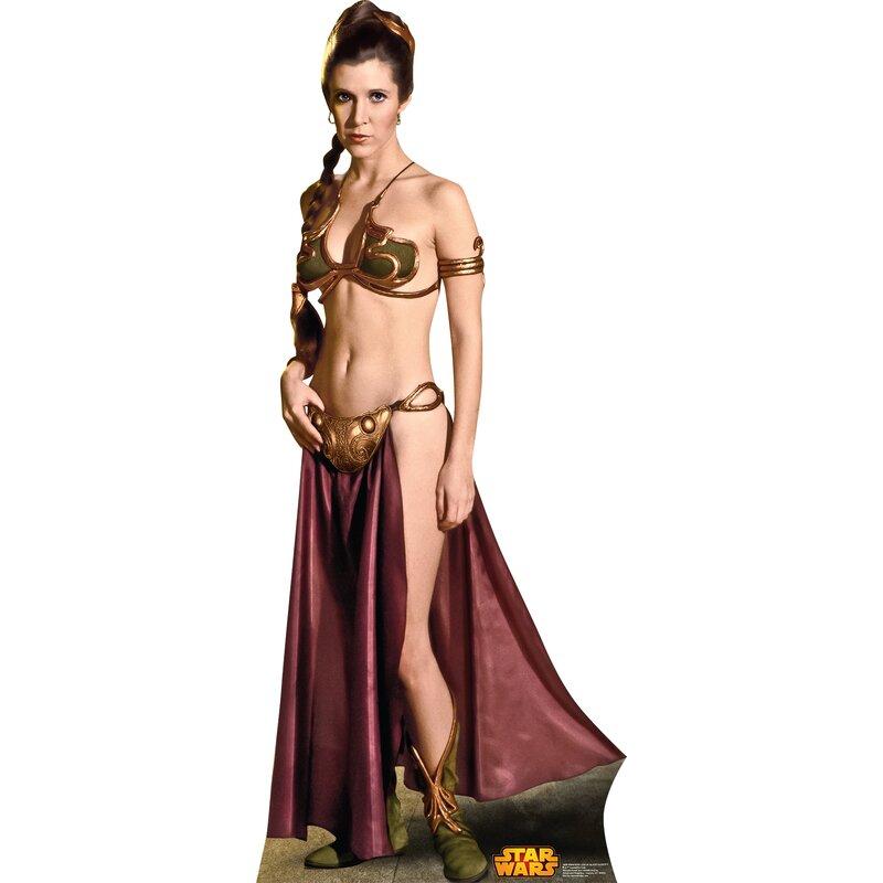 advanced graphics star wars princess leia slave girl cardboard