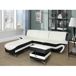 Emiliano Reversible Modular Sectional with Ottoman