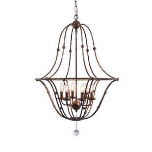 Norwich Rustic Metal 6-Light Candle Style Chandelier By Ophelia & Co.