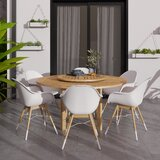 Seitz 7 Piece Teak Dining Set