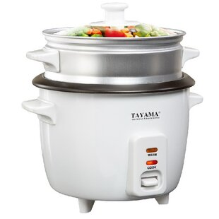 8-Cup Rice Cooker with Steam Tray