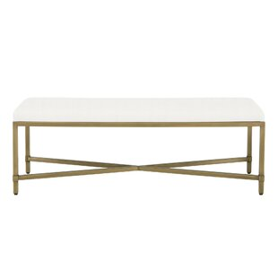 Find Hillam Upholstered Bench Great buy