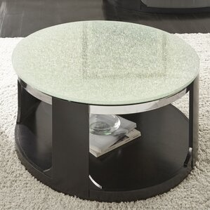 Charly Cracked Glass Coffee Table by Latitude Run