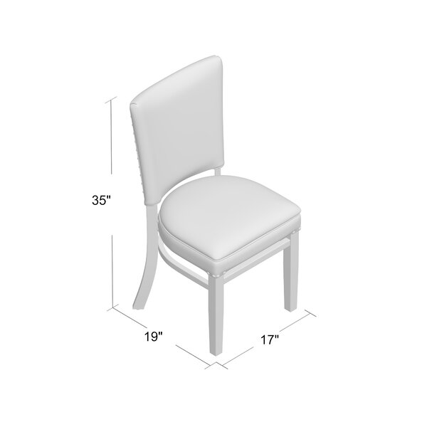 Regal Beechwood Skirted Seat Upholstered Dining Chair Wayfair