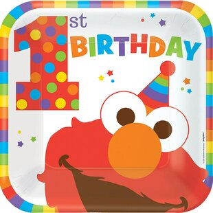 Elmo Turns One Paper Disposable Lunch Plate