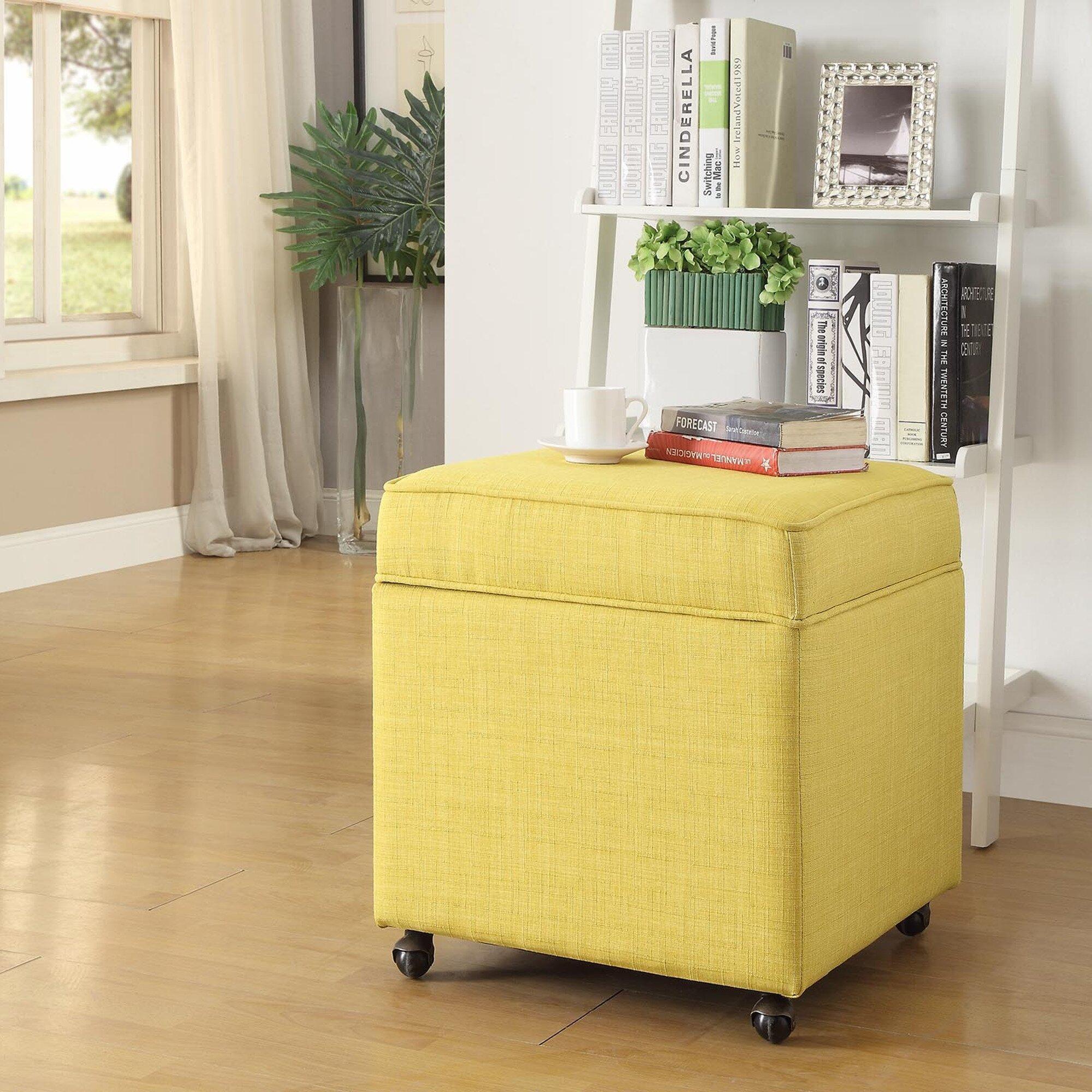 Inspired Home Co. Michael Storage Ottoman & Reviews | Wayfair
