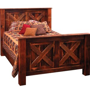 Reclaimed Barnwood Platform Bed by Fireside Lodge