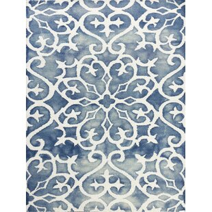 Eltingville Blue/White Area Rug By Wrought Studio