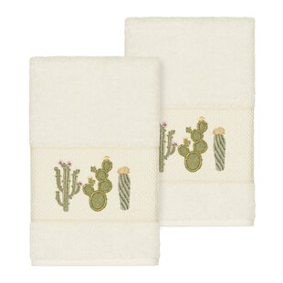 Hoeft Embellished Turkish Cotton Hand Towel (Set of 2)