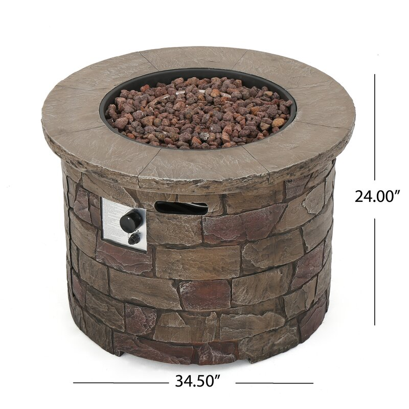 Leopold Stone Propane Fire Pit Table
