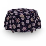 Blowballs Dots Ottoman Slipcover (Set of 2) by East Urban Home