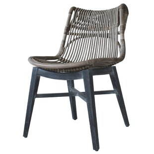 Deja Rattan Solid Wood Dining Chair (Set Of 2)
