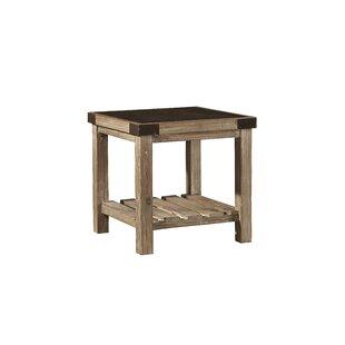 Where buy  Warnell Bluestone Top End Table by Gracie Oaks