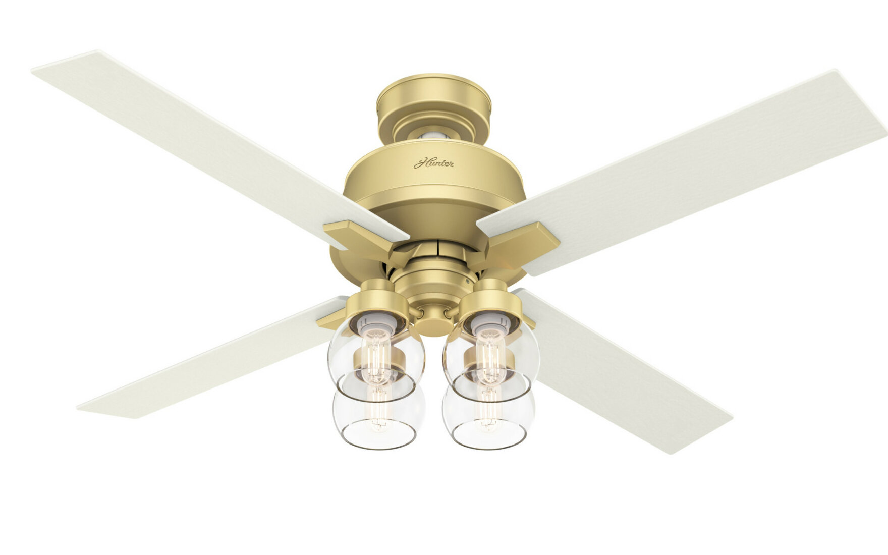 Hunter Fan 52 Vivien 4 Blade Standard Ceiling Fan With Remote Control And Light Kit Included Reviews Wayfair