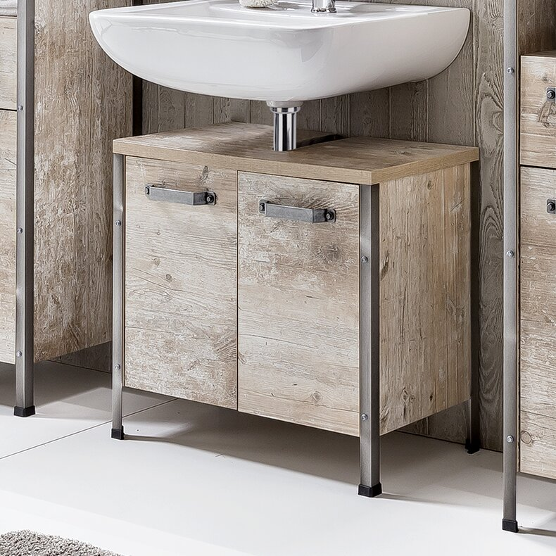 Fantastic Coraline 64Cm Wall Mounted Under Sink Storage Unit Beutiful Home Inspiration Ommitmahrainfo