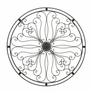 Metal Circle Wall Decor half round wall decor | wayfair