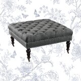 Landis 34.6 Tufted Square Cocktail Ottoman by Feminine French Country