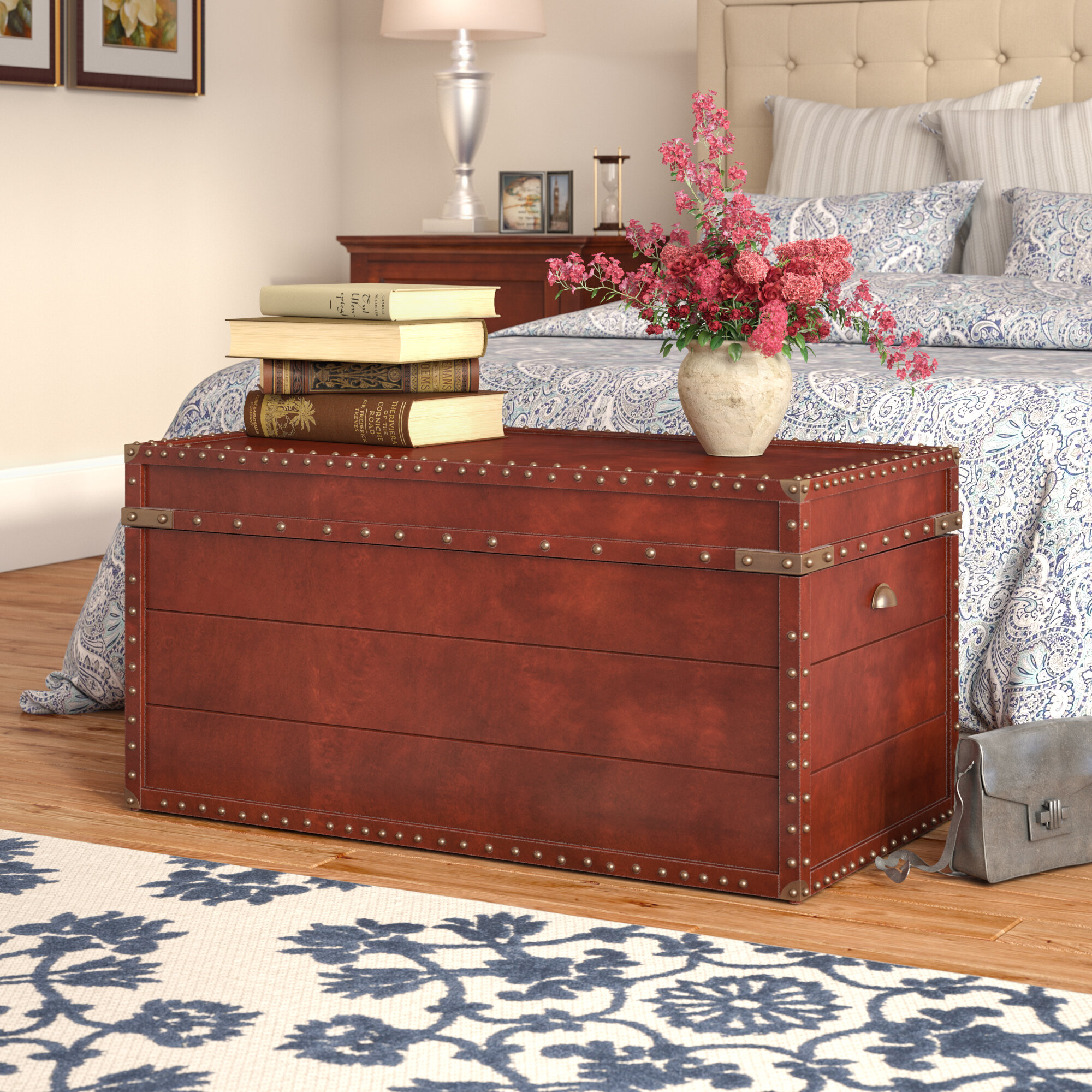 Three Posts Perth Trunk Coffee Table & Reviews