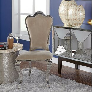 Kamala Stainless Steel Accent Chair (Set of 2)