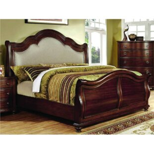 Gourdine Oquendo Upholstered Sleigh Bed