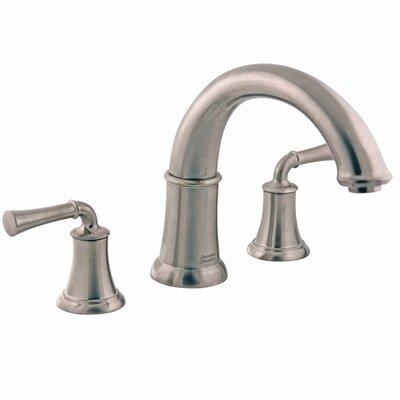 Portsmouth Double Handle Deck Mount Roman Tub Faucet Lever Handle American Standard Color: Satin Nickel