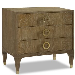 Atherton Cerused Teak 3 Drawer Nightstand by Brownstone Furniture Discount