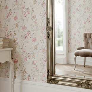 Clarisse 10m L x 68cm W Floral and Botanical Roll Wallpaper by Clarke&Clarke