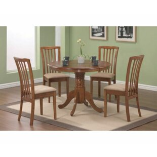 Padiham 5 Piece Solid Wood Dinig Set by Canora Grey