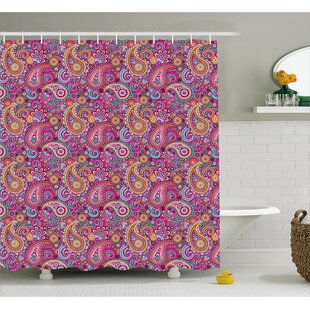 Hakeem Asian Flowers and Sun Single Shower Curtain