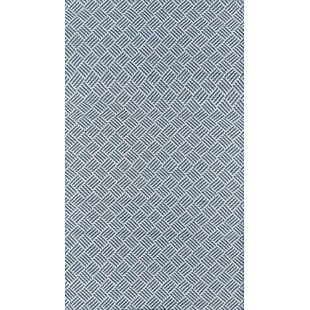Moorman Beach Club Handwoven Flatweave Navy Indoor/Outdoor Area Rug