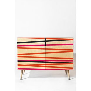Crew Stripe Warm Accent Cabinet by East Urban Home