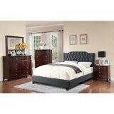 Lambdin Wooden Upholstered Standard Bed by Alcott Hill®