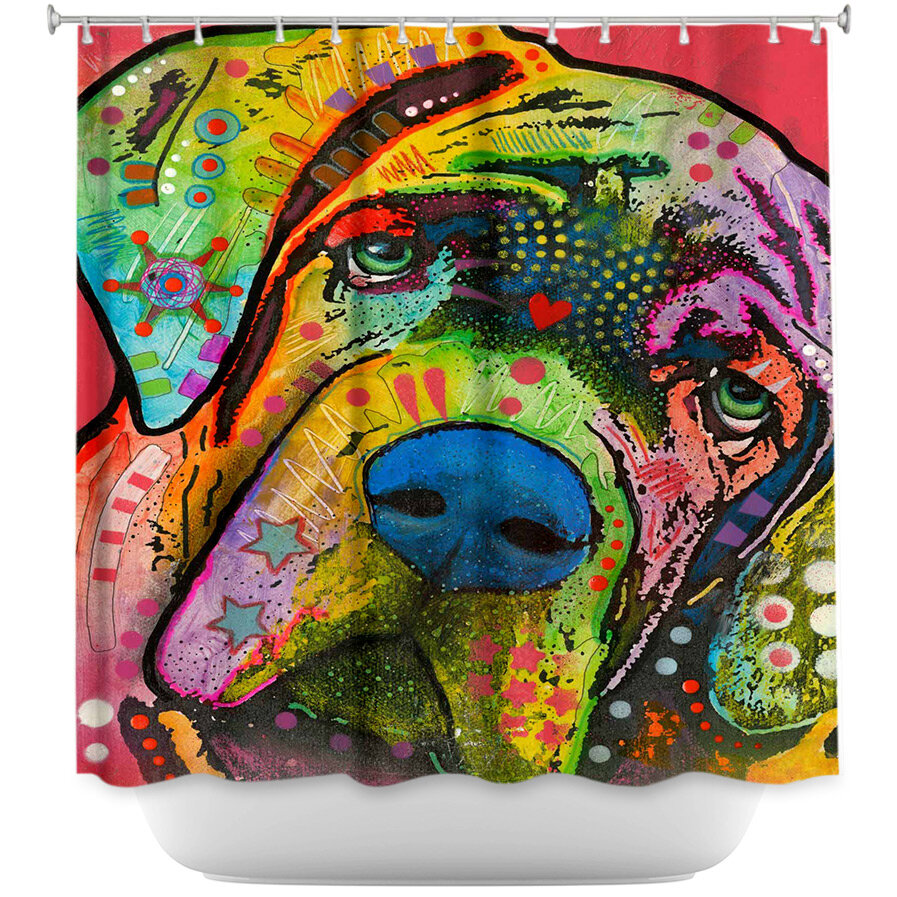 Dianochedesigns Bull Mastiff I Dog Single Shower Curtain Wayfair