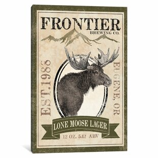 'Frontier Brewing Co. II (Lone Moose Lager)' Vintage Advertisement on Canvas By East Urban Home