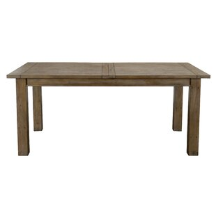 Egremt Driftwood Extendable Solid Wood Dining Table Highland Dunes