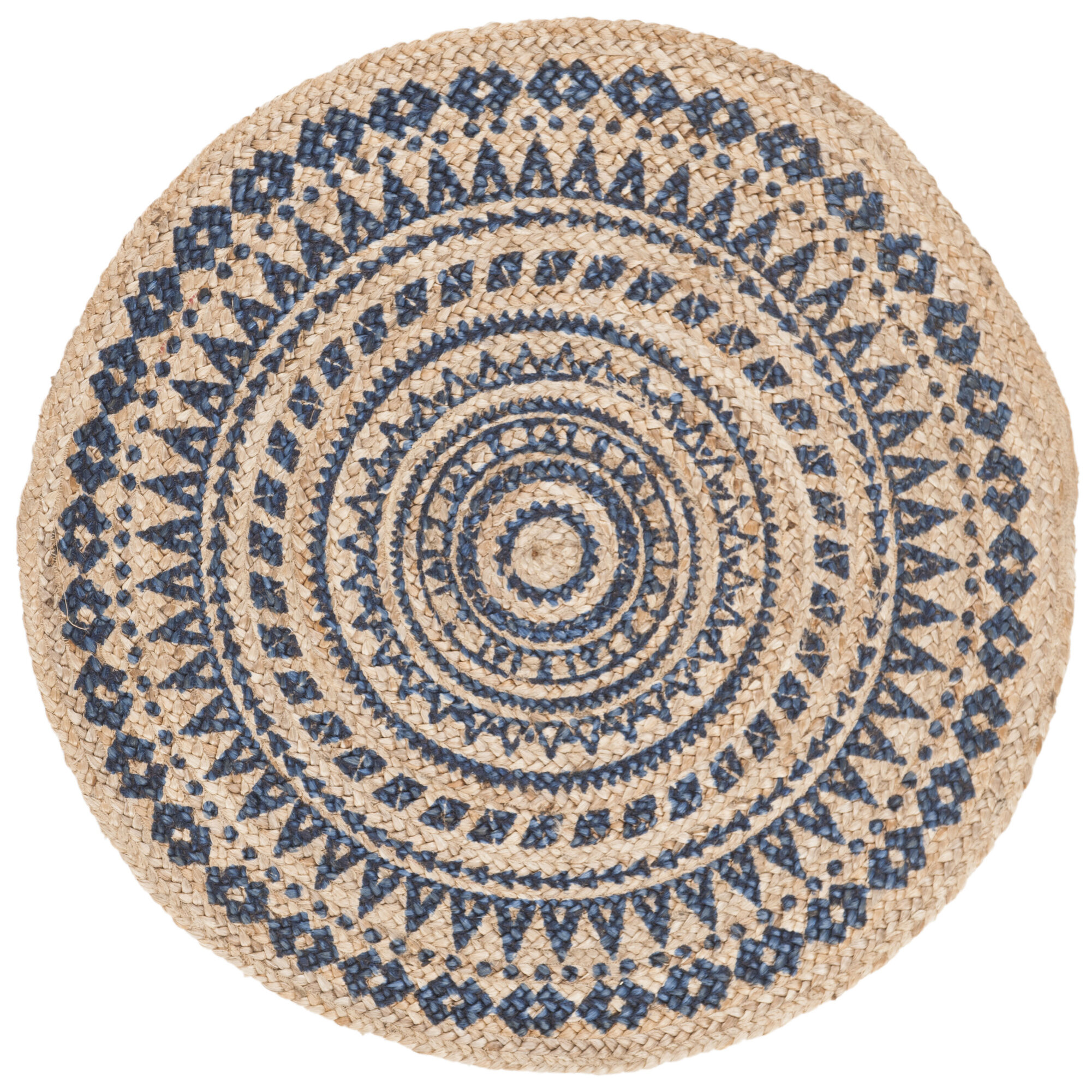 Picture of: Bungalow Rose Round Maryjane Oriental Handwoven Royal Blue Area Rug Reviews Wayfair