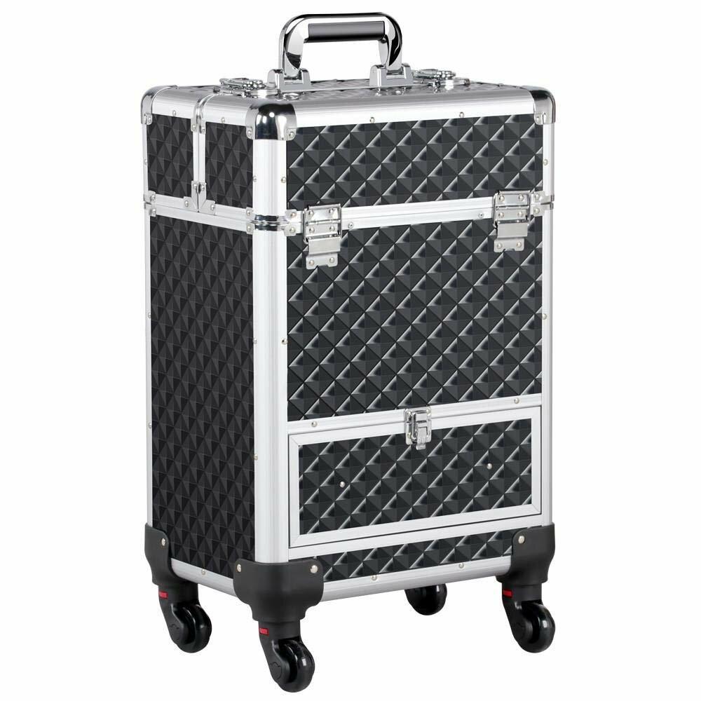 Patric Aluminum Cosmetic Case Rolling