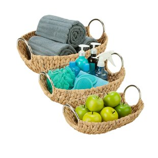 3 Piece Oval Natural Basket Set By Honey Can Do