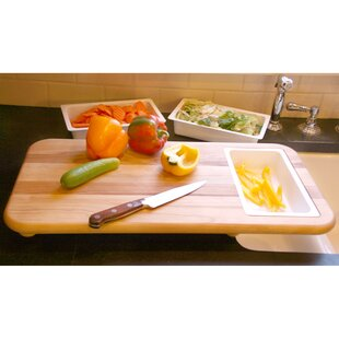 Cut N' Catch Over Sink Carver Board with Trays