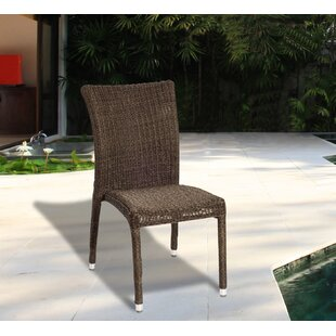 Tryston Stacking Patio Dining Chair with Cushion (Set of 4)