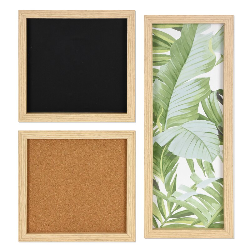 Ebern Designs 3 Piece Gallery Organization Magnetic Wall Mounted Combo Board Set Reviews Wayfair