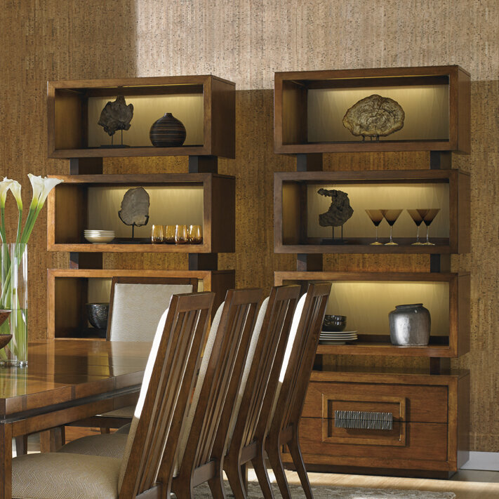 Island Fusion Tonga Tiered Oversized Standard Bookcase By Tommy Bahama Home