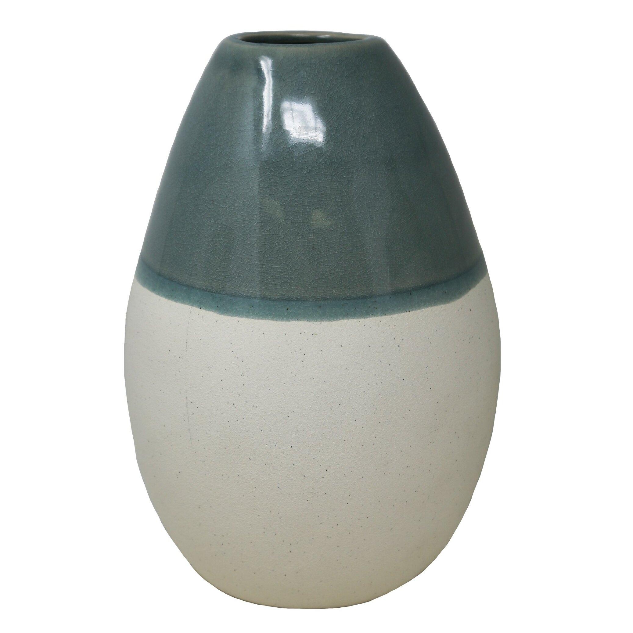 Highland Dunes Delafuente Ceramic Glazed Texture Table Vase Wayfair
